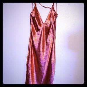 Satin Strappy Sheath Dress